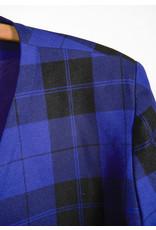 Plaid Blazer Cobalt Blue