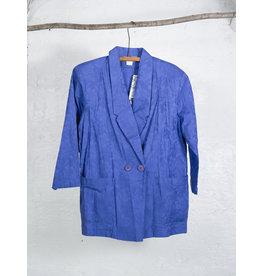 Tone on Tone Blue Floral Blazer
