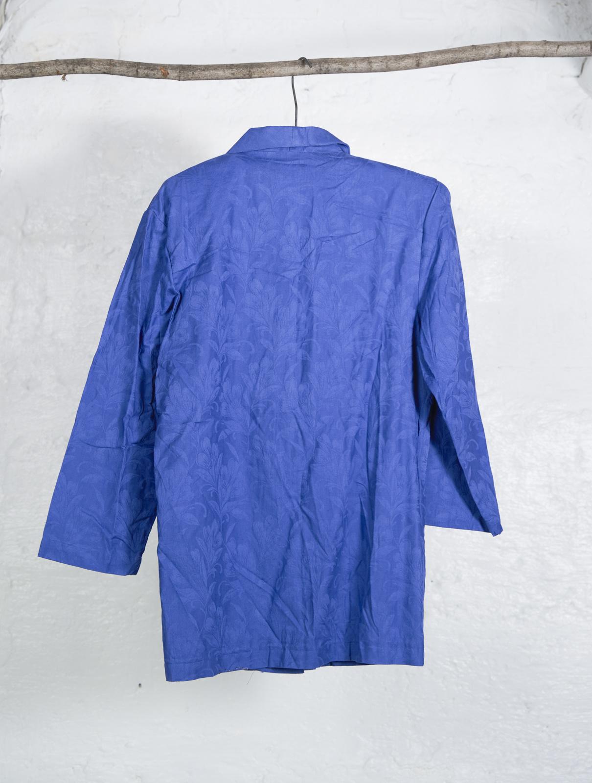 Blazer bleu clair fleur ton sur ton