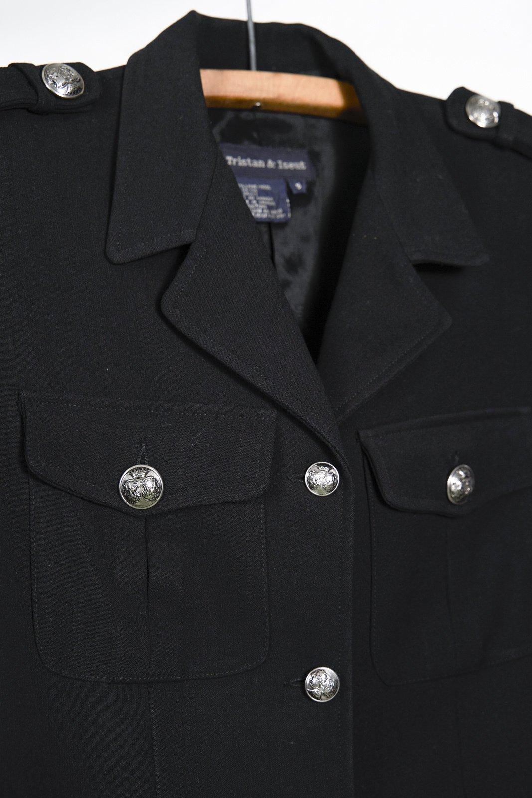 Black Military Tristan Jacket