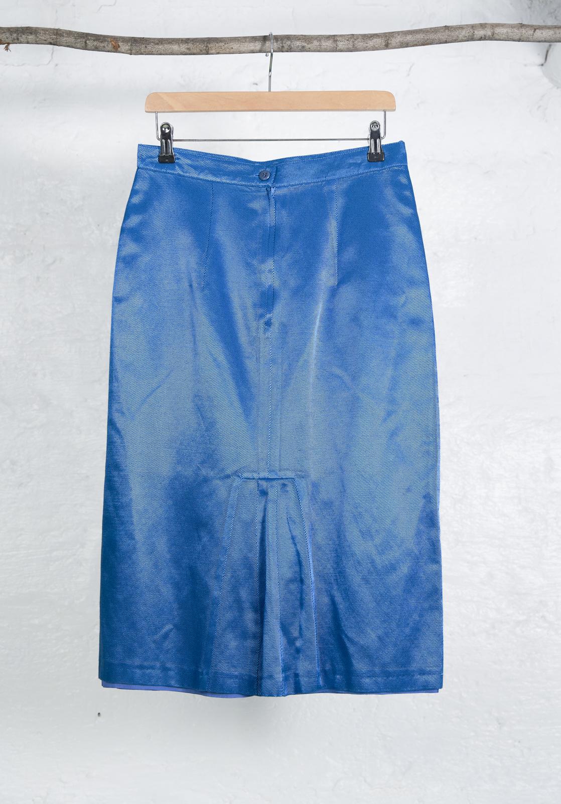 Ensemble jupe lame turquoise