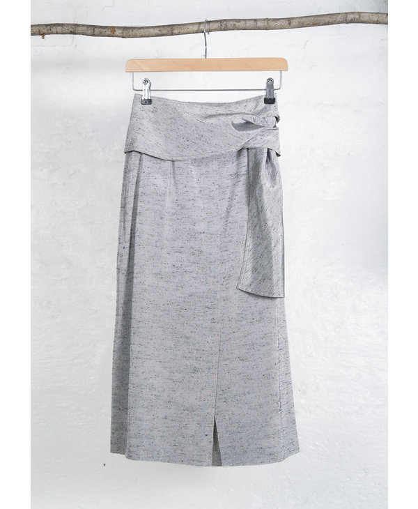 Oversized Skirt Suit Silver