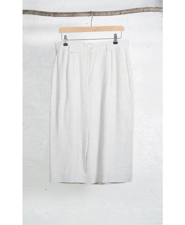 Skirt Suit Fine BW Stripe