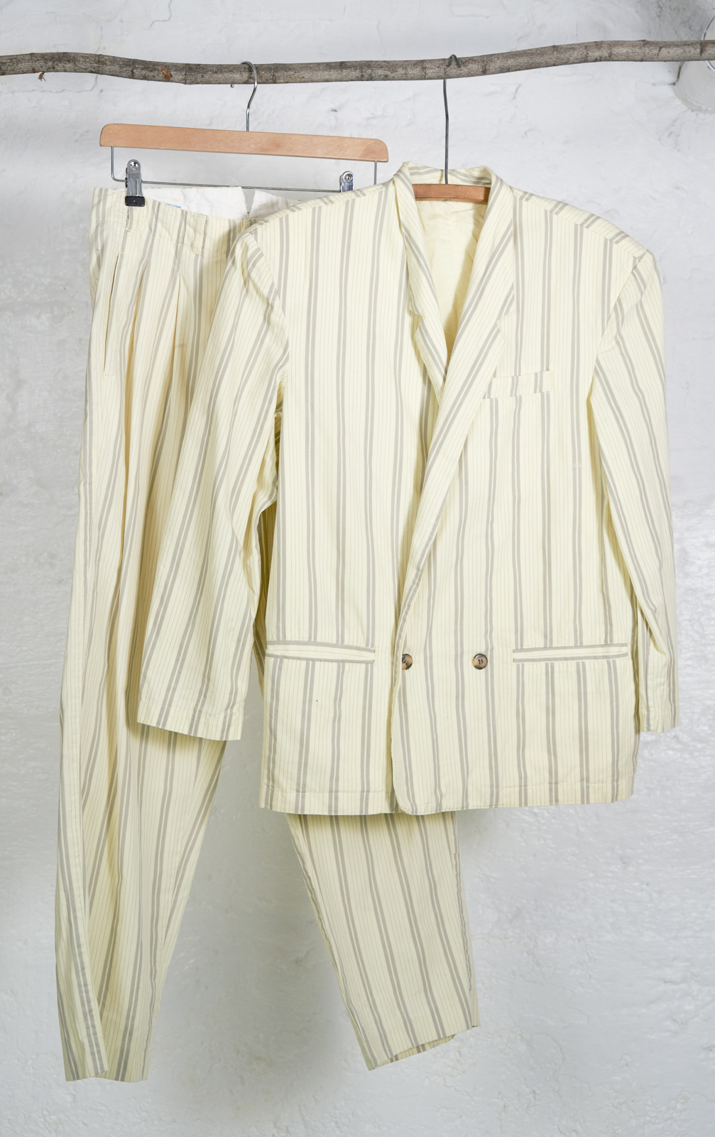 Light Yellow Fitted Pantsuit