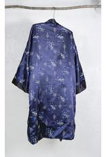 Kimono marine broderie dragon reversible