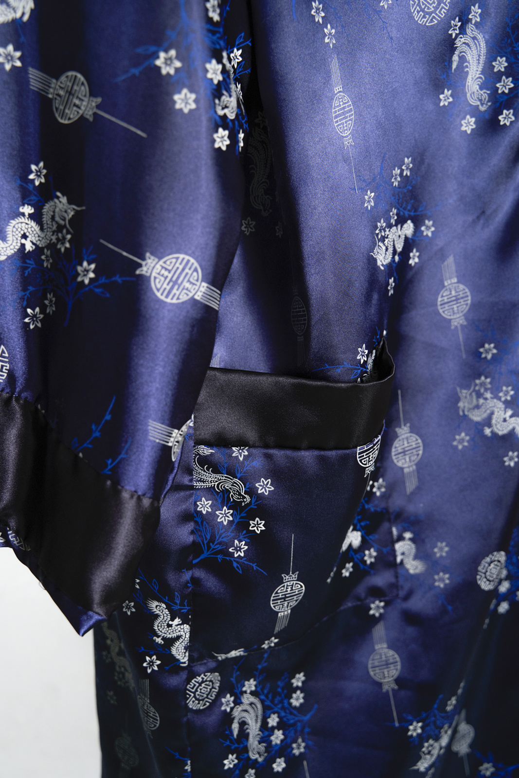 Navy Dragon Embroidered Kimono