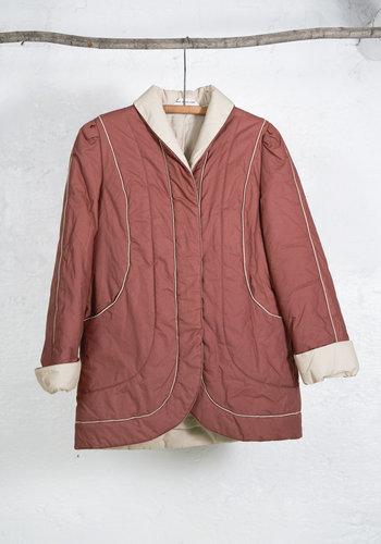 Quilted Coat Copper Cream
