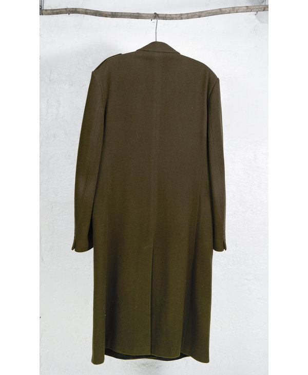 Manteau long brun vert