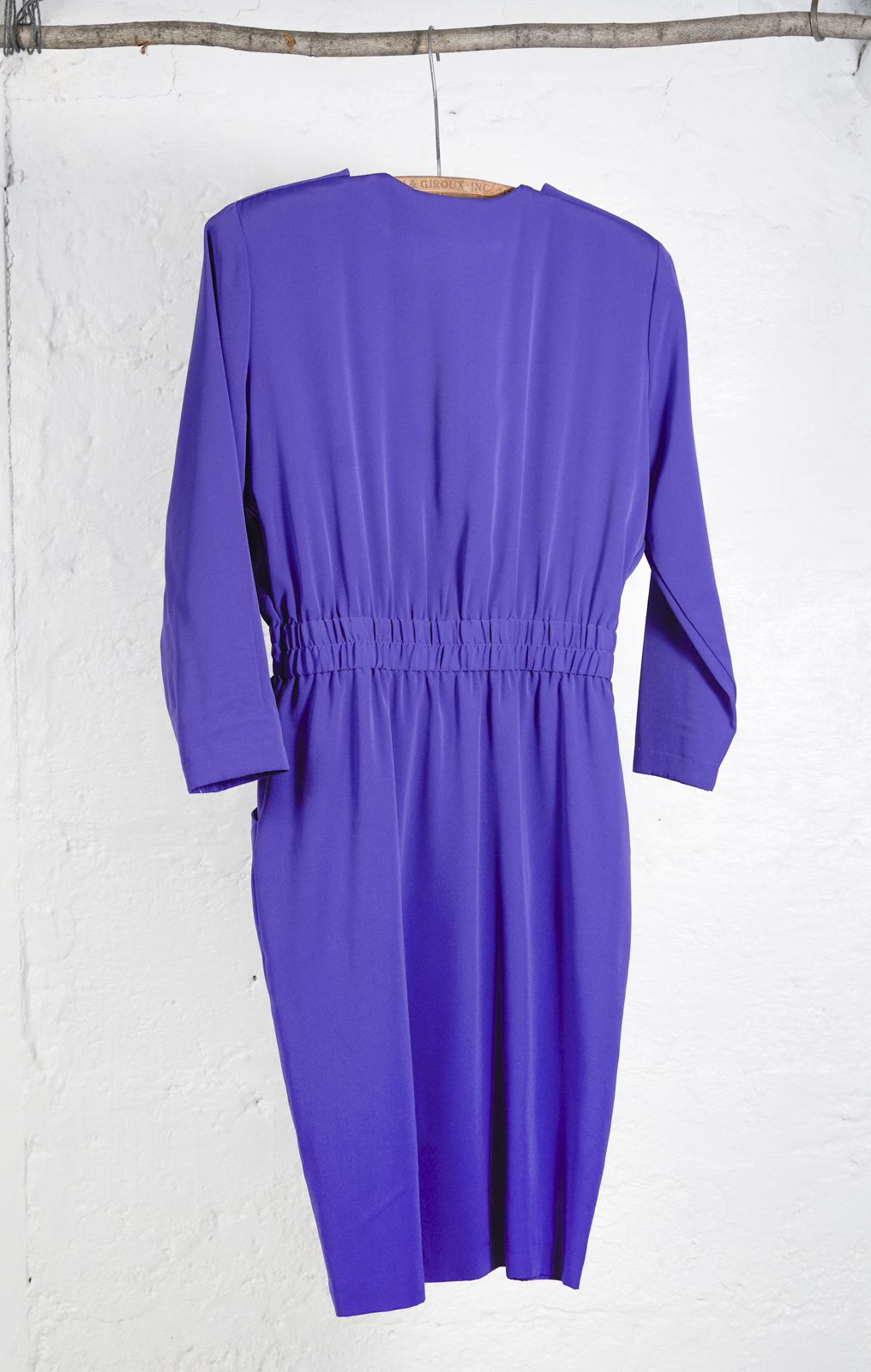 Purple Shirt Dress Gold Button