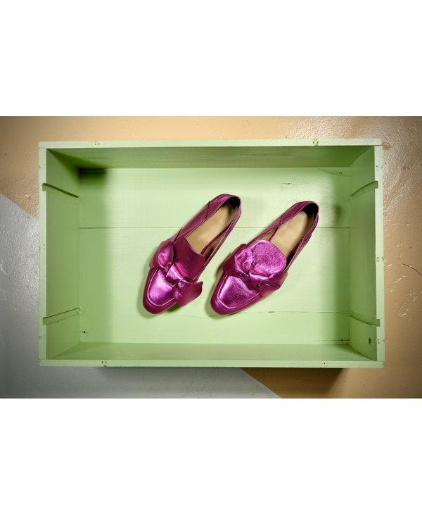 Chaussure boucle magenta