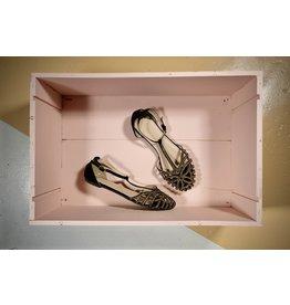 Sandale noire stud gold