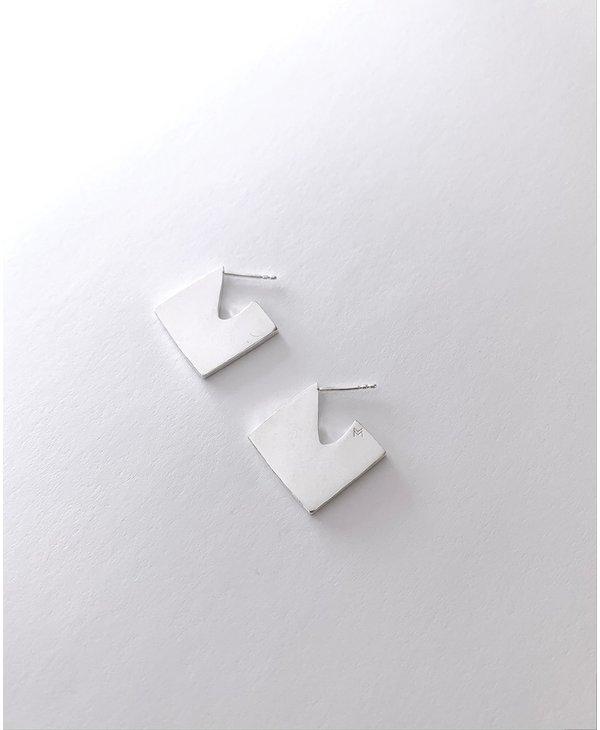 Geometrical earrings silver