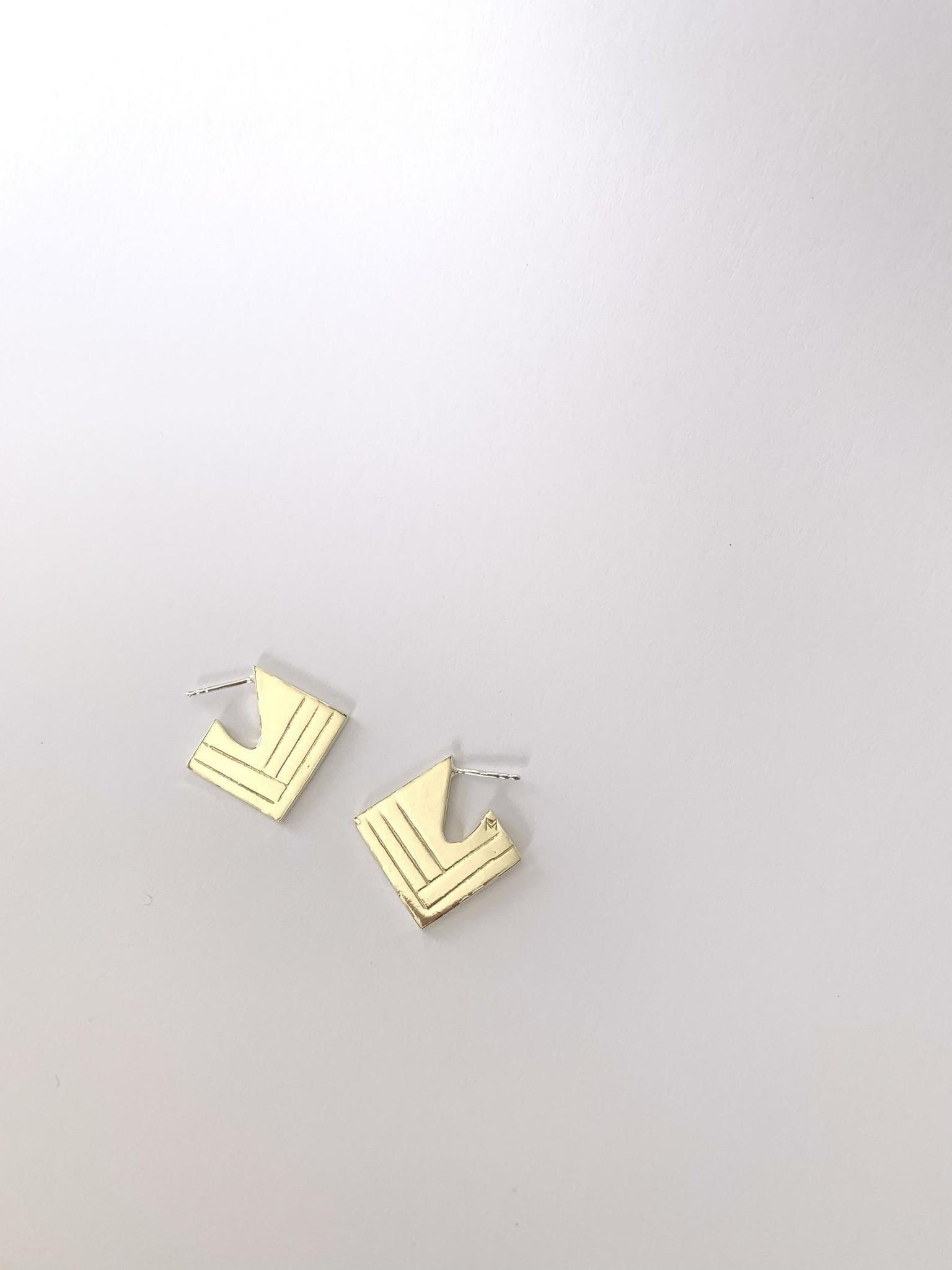 La Manufacture Boucles d'oreilles Art-deco