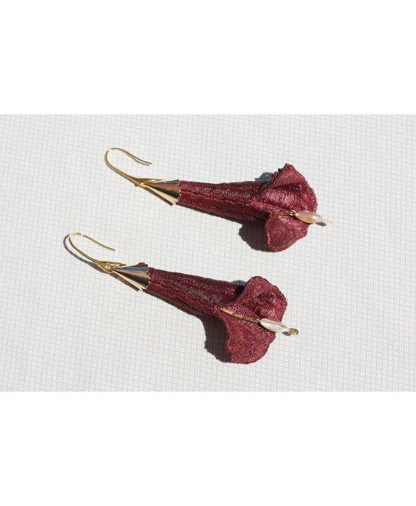 Brugmansia earrings - 2 colors