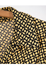chemisier ample graphique jaune et noir