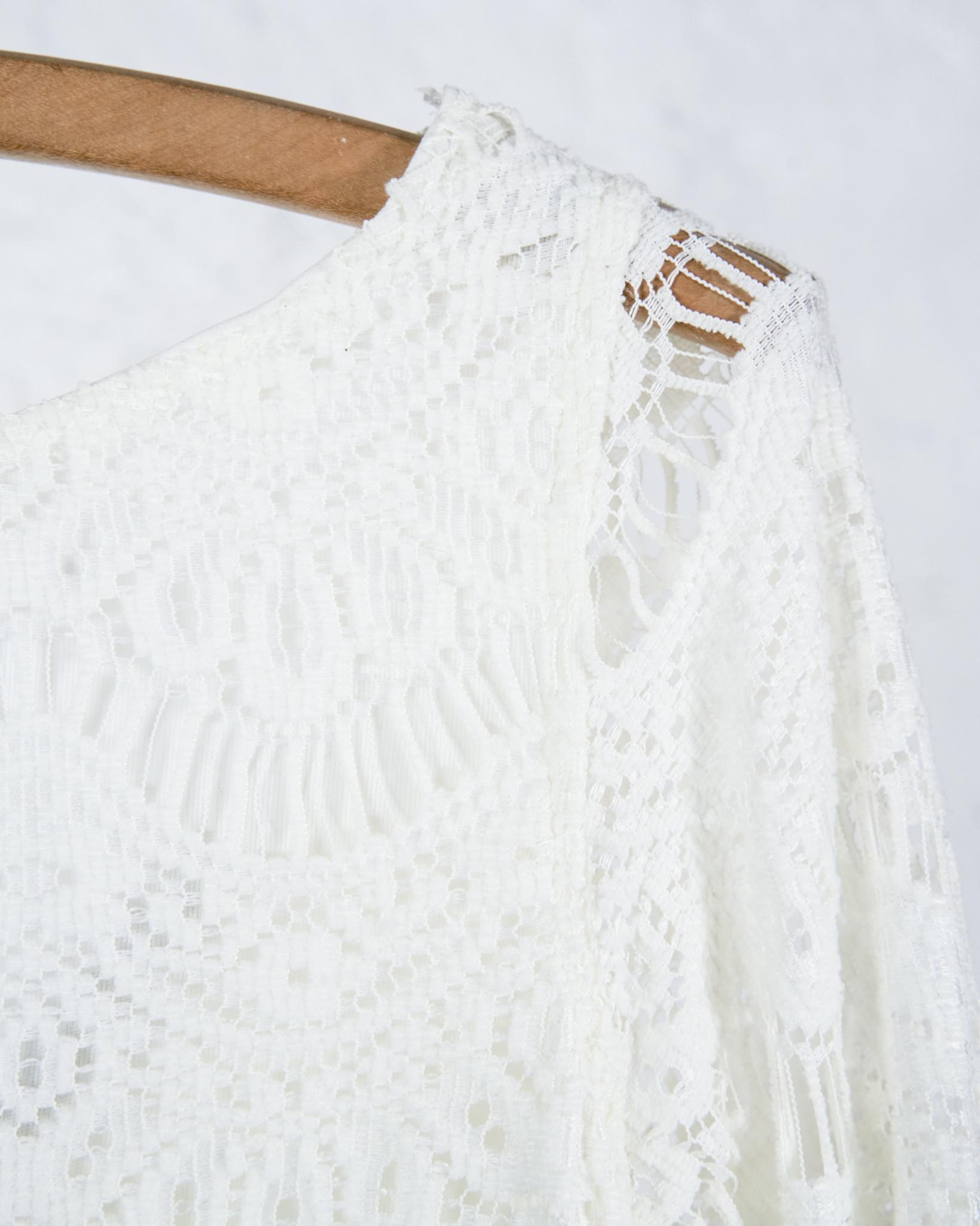 Short ivory lace dress
