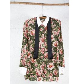 Chemise longue fleur anglaise col blanc
