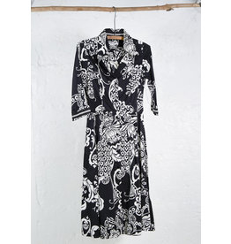 Black and White shirt dress A line skirt
