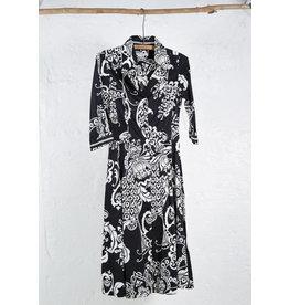 Robe chemise NB jupe ample