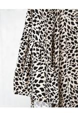 Animal print dress with flowy sleeves