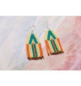 La Gordita Turquoise and coral arrows