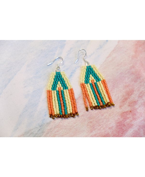 Turquoise and coral arrows