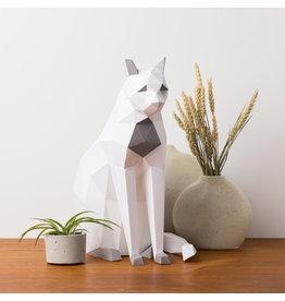 Sofs 3D Paper Model - Sitting Cat