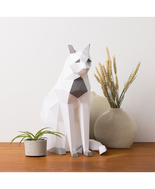 3D Paper Model - Sitting Cat