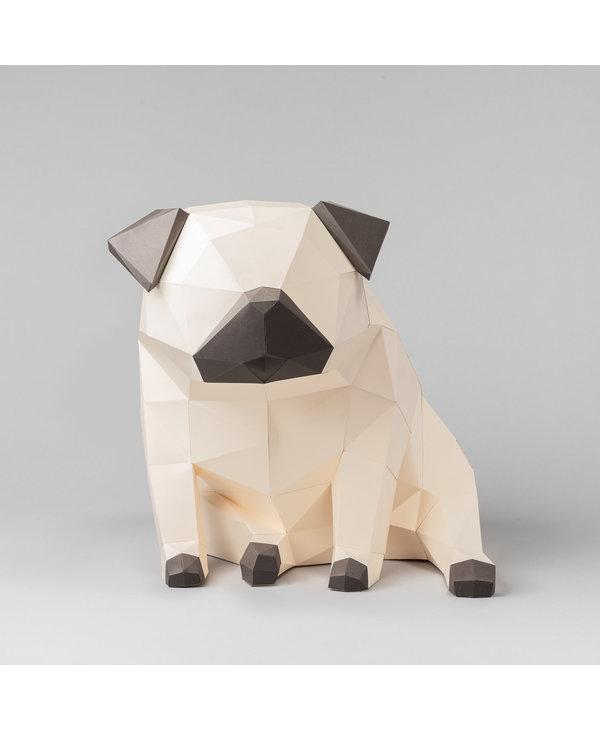 Modèle papier 3D - Carlin (Pug)