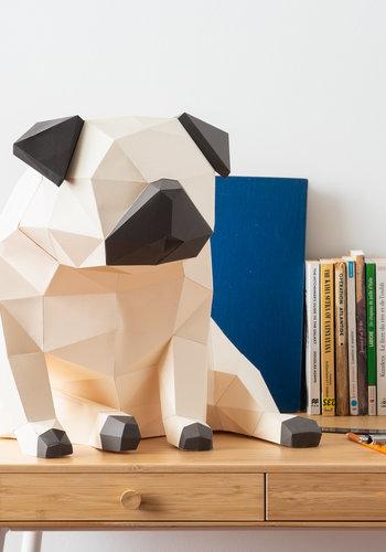 3D paper model - Carlin (Pug)