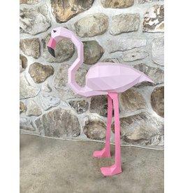 Sofs 3D paper model - Flamingo