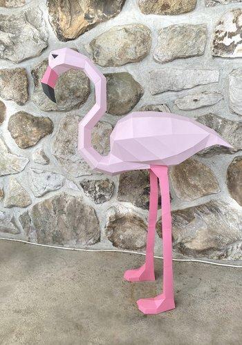 3D paper model - Flamingo
