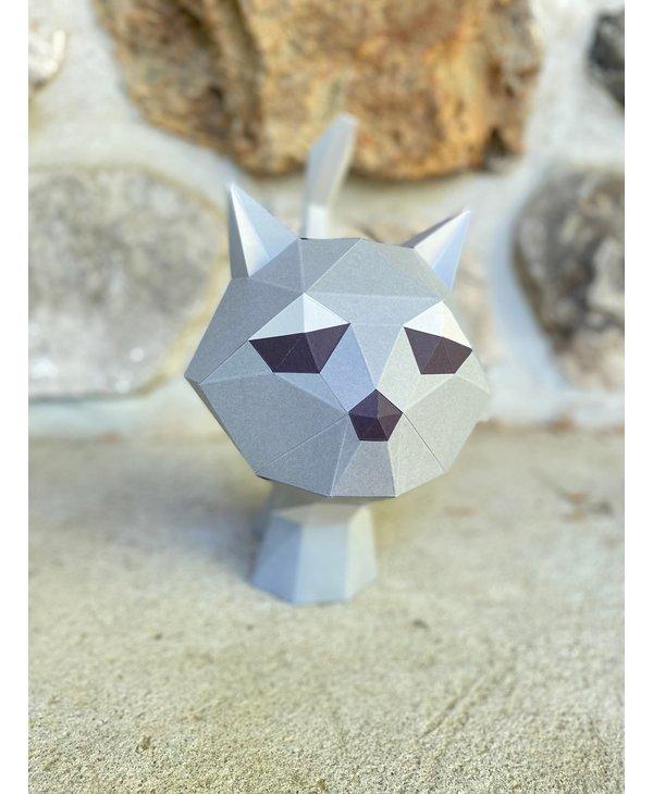 Modèle papier 3D - Bébé Chat