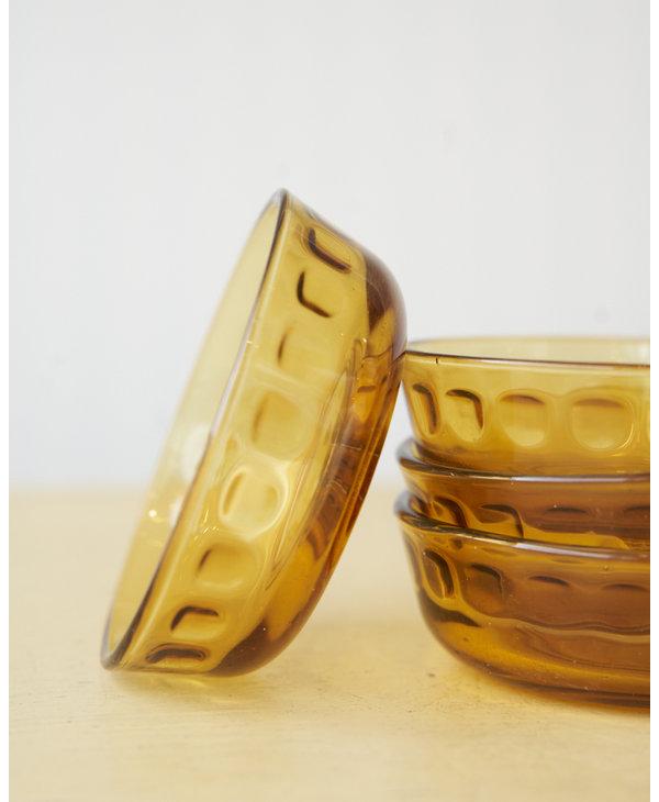 Small ramekin bowl copper glass - 4 available