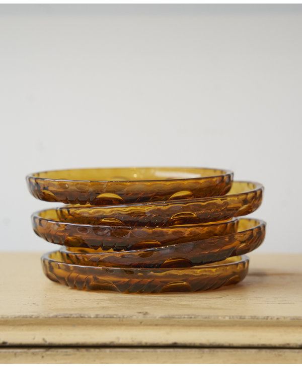 Dessert plate copper glass - 5 availables