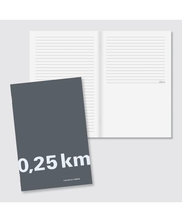 Cahier 0,25 km