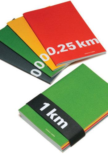 1 km - Série de 4 cahiers