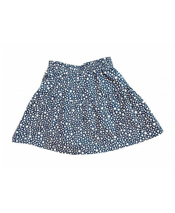Reversible skirt lucky cat/stars
