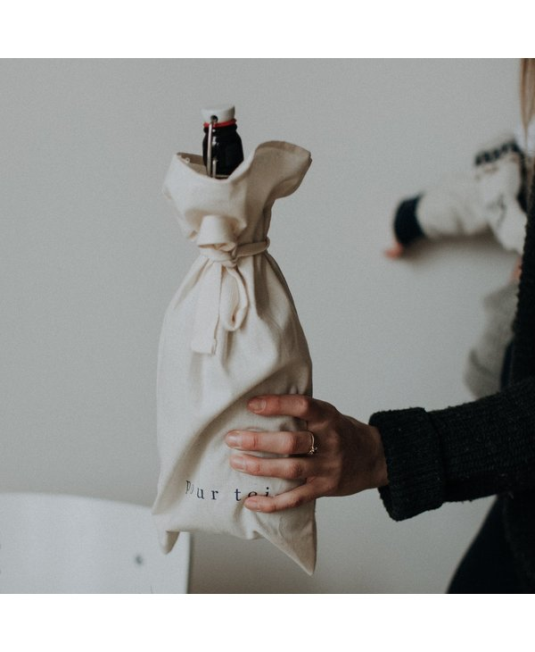 Reusable bottle gift bag