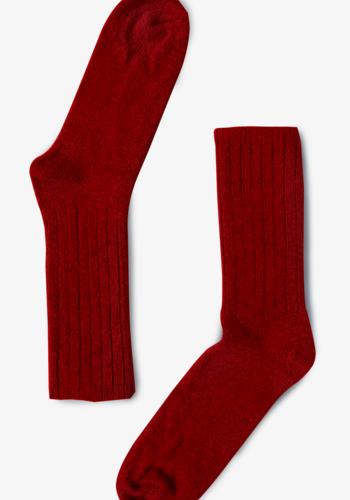 B0014 - Chaussettes Mérinos Rouge