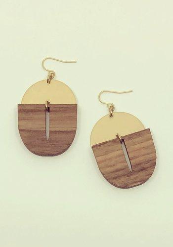 Frub Earrings (wood)