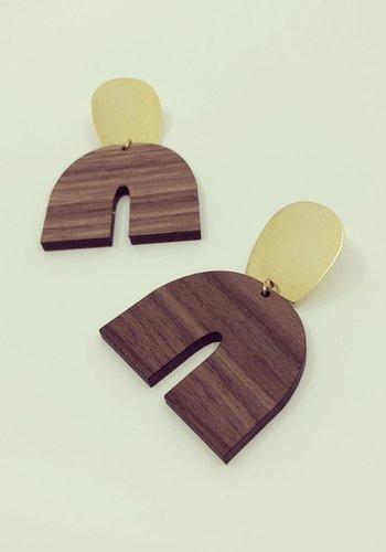 Boucles d'oreilles Vokke (bois)