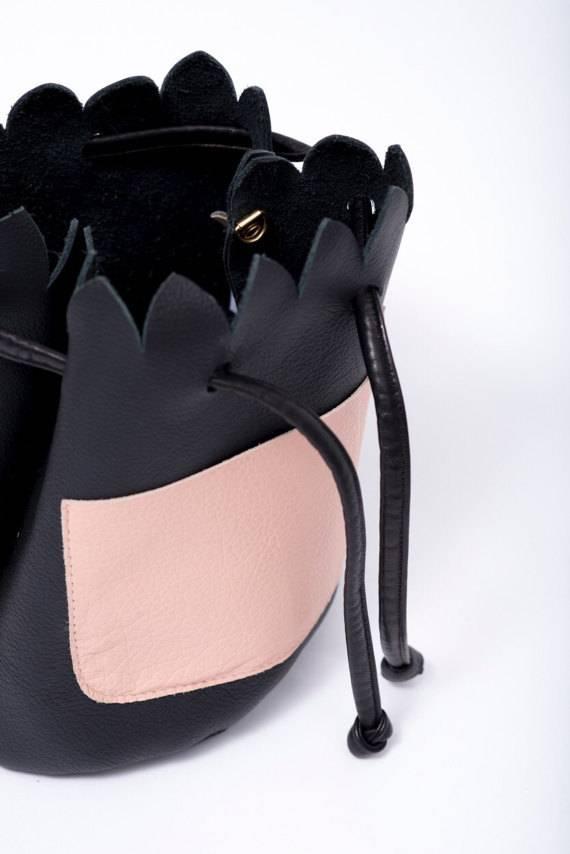 Noemiah Small Scalloped Bucket Bag