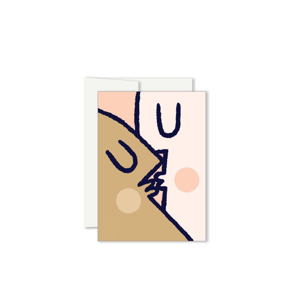 Paperole Paperole Carte de Souhaits Mini : Kiss
