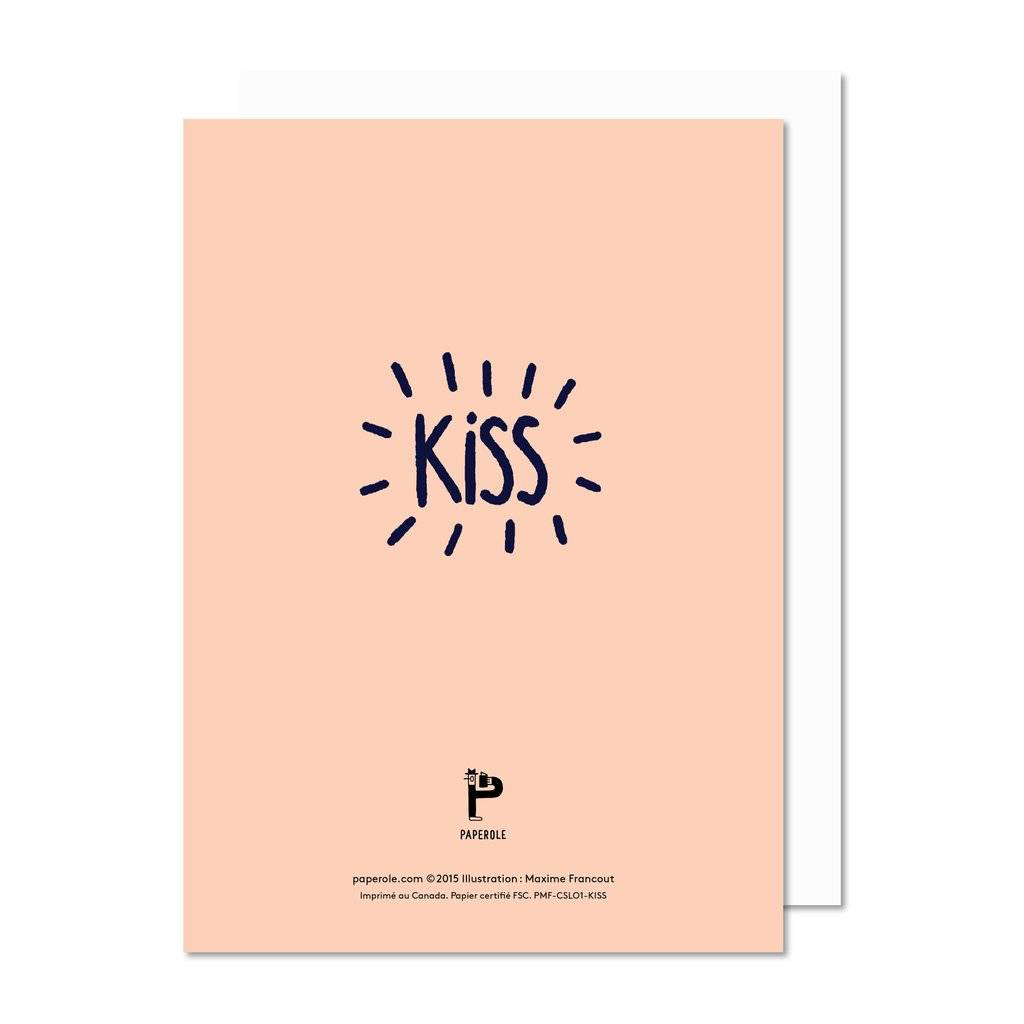Paperole Paperole Kiss Greeting Card