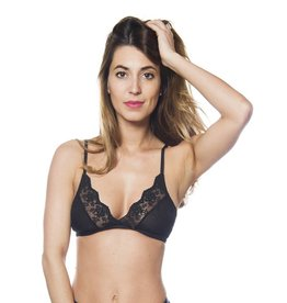 Sokoloff Lingerie Ester Bralet - Black - Size Small