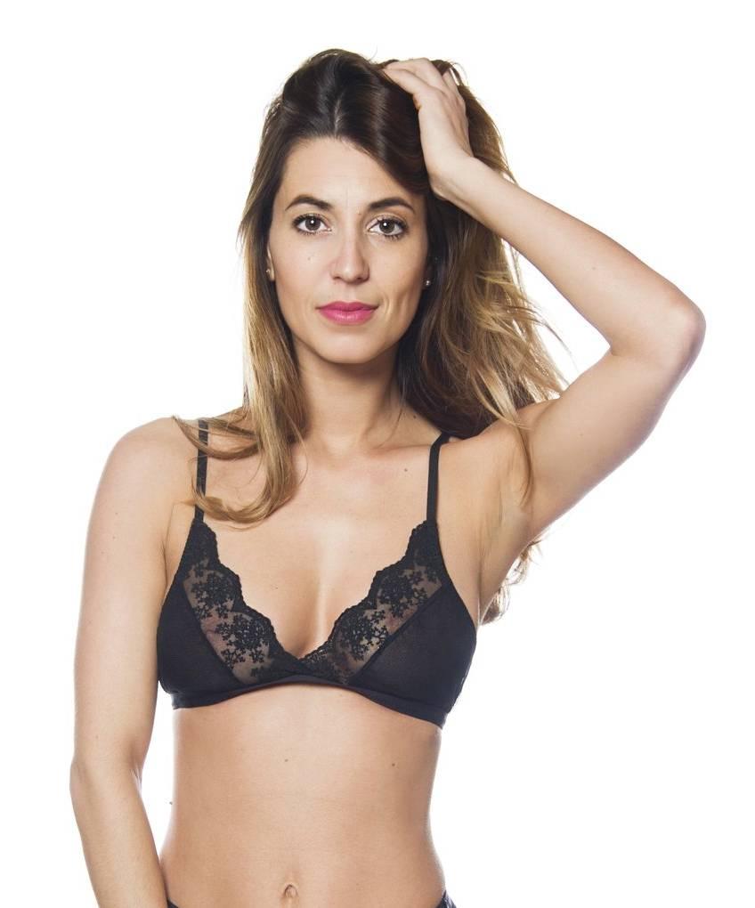 687013381 Sokoloff Lingerie Sokoloff Lingerie - Ester Bralette - Black - Size Small  ...