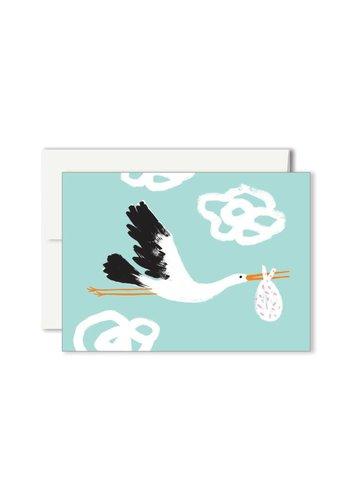Carte Mini Cigogne