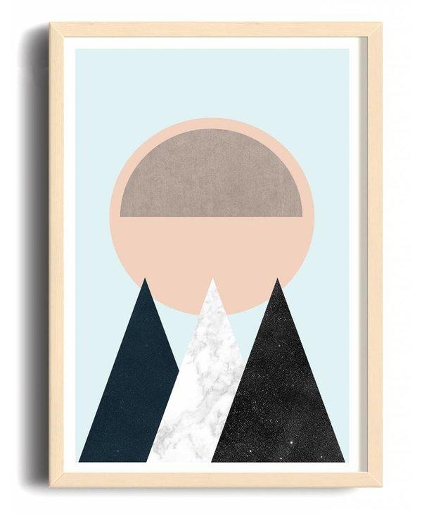 Toffie Mountain Sun 18x24 Art Print
