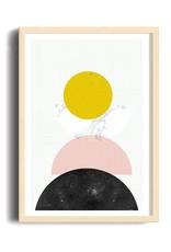 Toffie Toffie Mid Century Geo. 18x24 Art Print